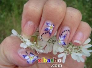 summery lilac nail art ideas 300x221 طرح زیبا برای ناخن