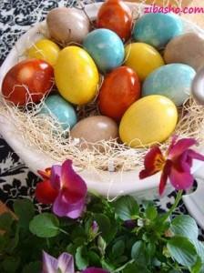 dye egg 400 224x300 ایده هایی برای تخم مرغ هفت سین