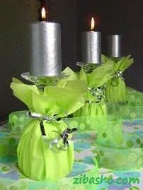 paper napkin decorated candle glasses LRG Copy Optimized ایده برای شمع سفره هفت سین