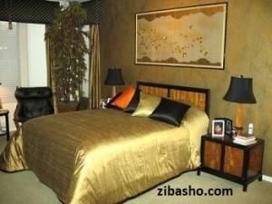 Optimized Gold Bedroom Design 3 500x375 300x225 شکوه در منزل با رنگ طلایی
