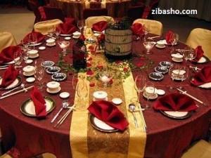 Optimized red gold table 300x225 شکوه در منزل با رنگ طلایی