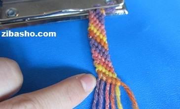 IMG 4132 آموزش بافتن دستبند دوستی ساده