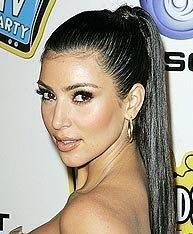 Kim Kardashian ponytail بهترین مدل مو مناسب نوع صورت شما(قسمت اول)