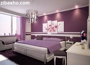 contemporary purple bedroom decor 1 500x384 Optimized چند ایده برای اتاق خواب