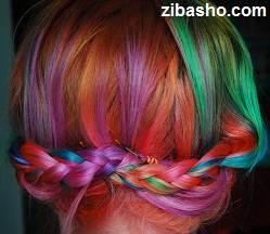 rainbow braid hair Copy 2 Optimized رنگ کردن موها به صورت فانتزی