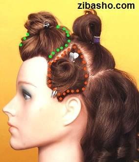 Wedding Hairstyles Medium Hair 2 آموزش شینیون عروس