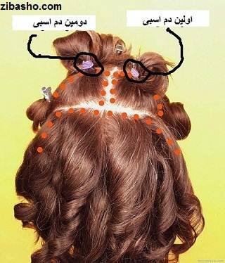 Wedding Hairstyles Medium Hair 3 آموزش شینیون عروس