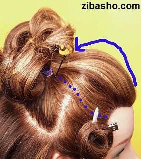Wedding Hairstyles Medium Hair 4 آموزش شینیون عروس