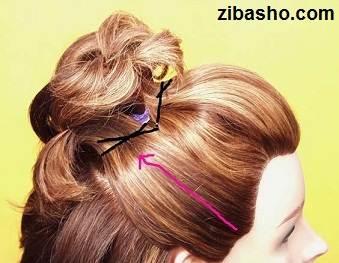 Wedding Hairstyles Medium Hair 5 آموزش شینیون عروس