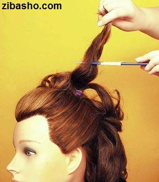 Wedding Hairstyles Medium Hair 6 آموزش شینیون عروس