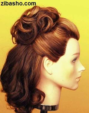 Wedding Hairstyles Medium Hair 7 آموزش شینیون عروس