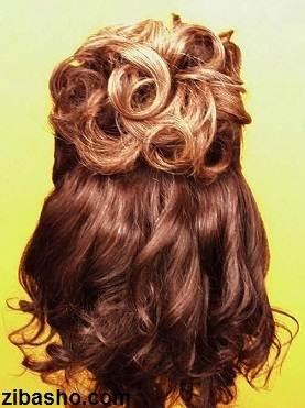 Wedding Hairstyles Medium Hair 8 آموزش شینیون عروس
