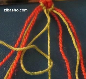 IMG 8634 آموزش بافتن دستبند دوستی با طرح قلب