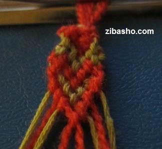 IMG 8642 آموزش بافتن دستبند دوستی با طرح قلب