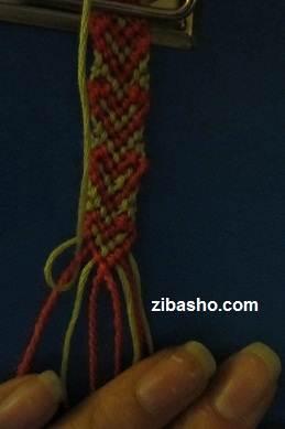 IMG 8646 آموزش بافتن دستبند دوستی با طرح قلب