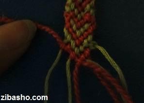 IMG 8655 آموزش بافتن دستبند دوستی با طرح قلب