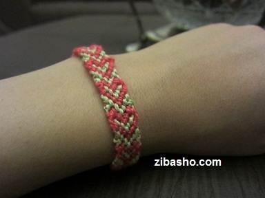 IMG 8662 Copy آموزش بافتن دستبند دوستی با طرح قلب