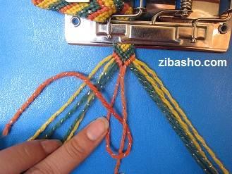 IMG 8860 آموزش بافتن دستبند دوستی طرح هفت