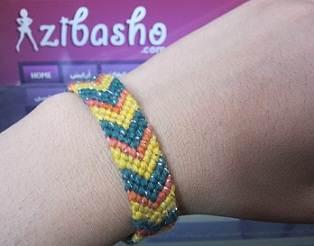 IMG 8869 آموزش بافتن دستبند دوستی طرح هفت