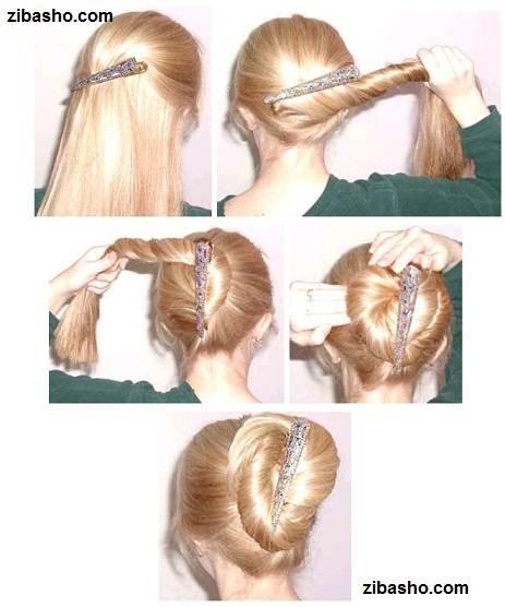 hairstyle6c Optimized ایده ای ساده و زیبا برای دم اسبی و بوکل