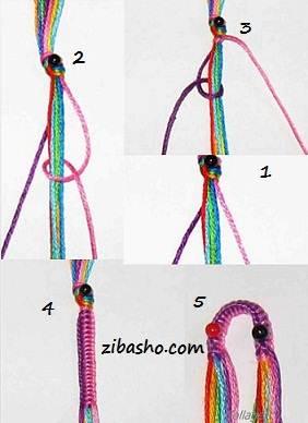 zibasho آموزش ایجاد ابتدا و انتهای دستبندهای دوستی