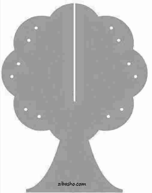olgushablon آموزش ساخت درخت آویز گوشواره