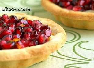 orange pomegranate tart cropped 410x307 تهیه تارت انار برای شب یلدا