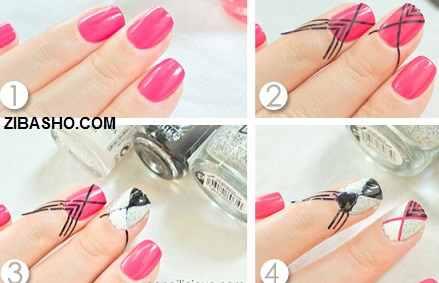 textured nail polish nail art tutorial ایده،آموزش و ترکیب رنگها برای طراحی ناخن