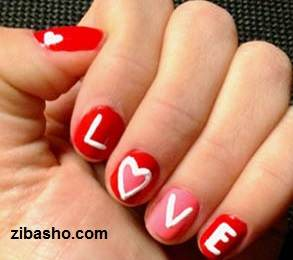 valentines0 طراحی ناخن با عشق
