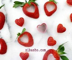 11 دسر توت فرنگی قلبی