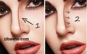 nose makeup1 نحوه کانتور کردن انواع مدلهای بینی