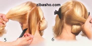 1x1.trans آموزش شینیون زیبا برای موهای کوتاه