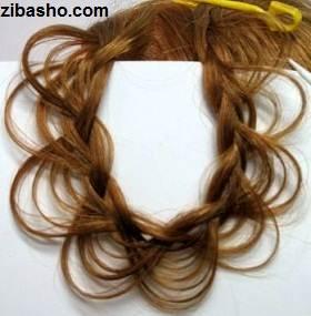 4zibasho آموزش بافت مو به شکل گل