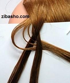 6 1 آموزش بافت مو به شکل گل