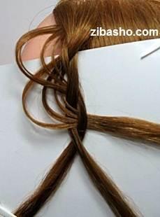 6 2 آموزش بافت مو به شکل گل